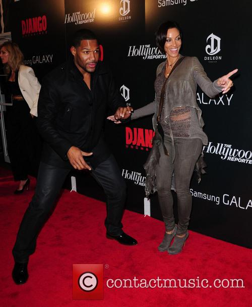 Michael Strahan, Django Unchained and Ziegfeld Theatre 1