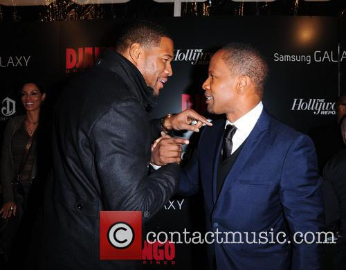 Jamie Foxx, Michael Strahan and Ziegfeld Theatre 4