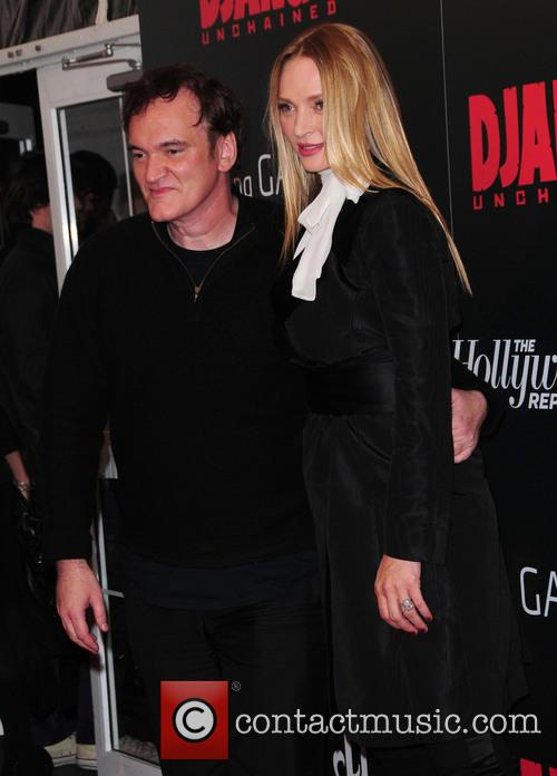 Quentin Tarantino, Uma Thurman and Ziegfeld Theatre