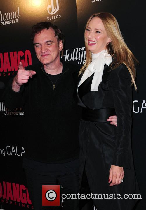 Quentino Tarantino, Uma Thurman and Ziegfeld Theatre 3
