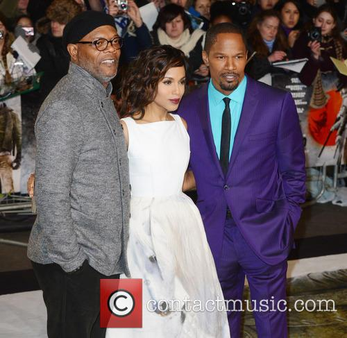 Samuel L. Jackson, Kerry Washington and Jamie Foxx 3