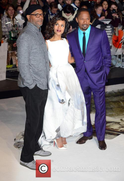 Samuel L. Jackson, Kerry Washington and Jamie Foxx 5
