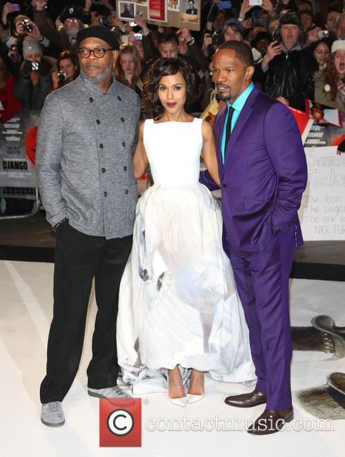 Samuel L. Jackson, Kerry Washington, Jamie Foxx and Empire Leicester Square 10