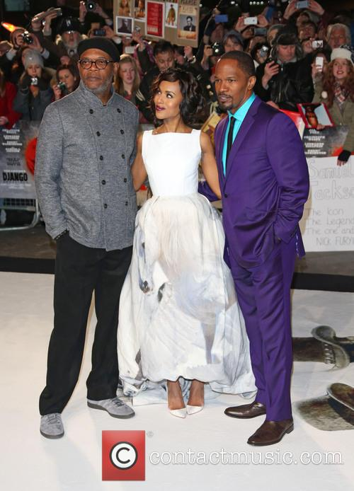Samuel L. Jackson, Kerry Washington, Jamie Foxx and Empire Leicester Square 1