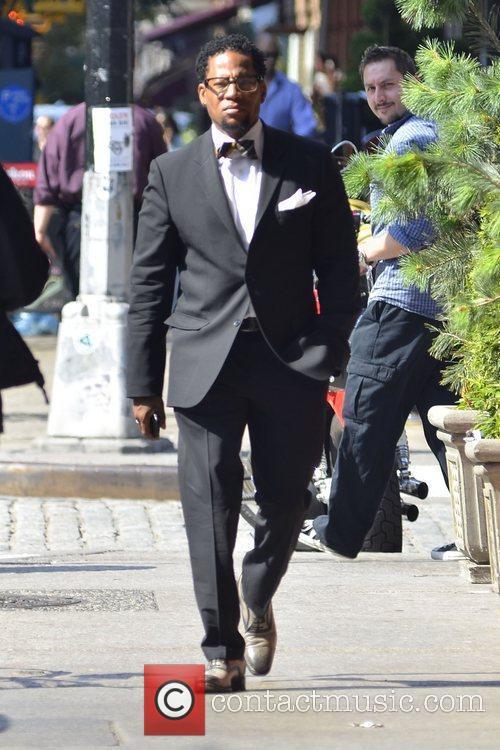 Comedian DL Hughley is seen strolling in Soho,...