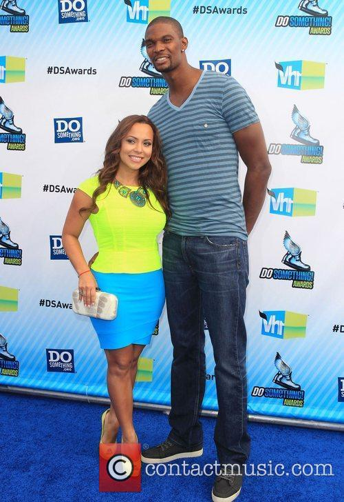Chris Bosh, Adrienne Bosh  at the DoSomething.org...