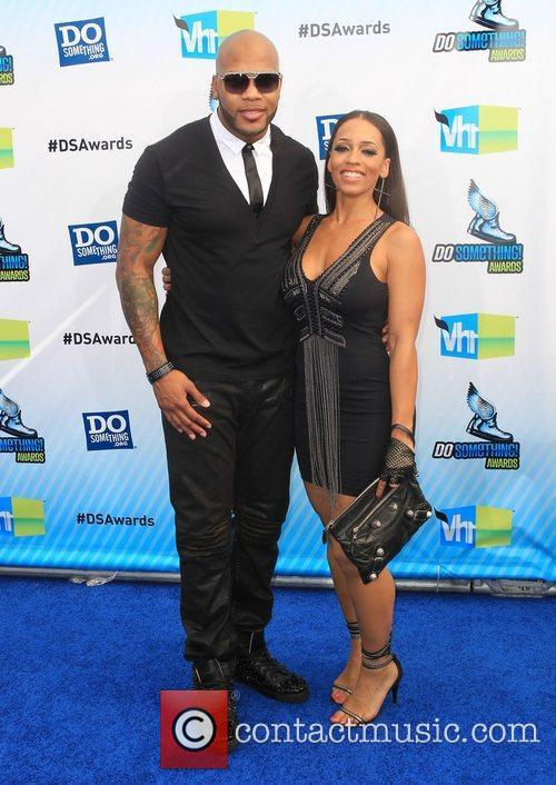 Flo Rida and Guest at the DoSomething.org and...