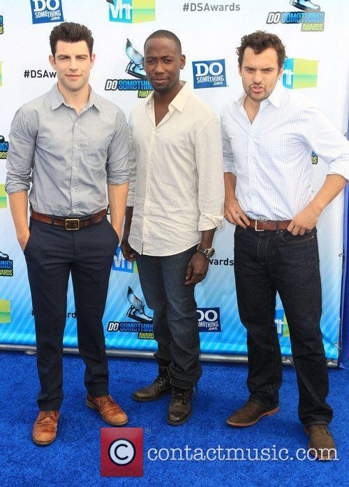 Hosts Max Greenfield, Lamorne Morris and Jake M....