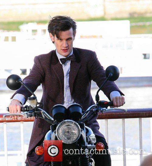 Matt Smith on a motorcycle The cast of...
