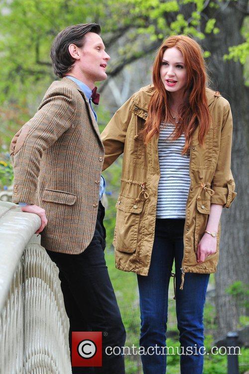 Matt Smith, Doctor Who, Karen Gillan and Central Park 8