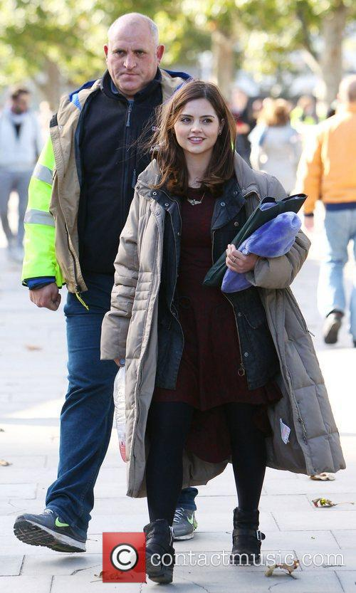 The cast of 'Doctor Who' filming in central...