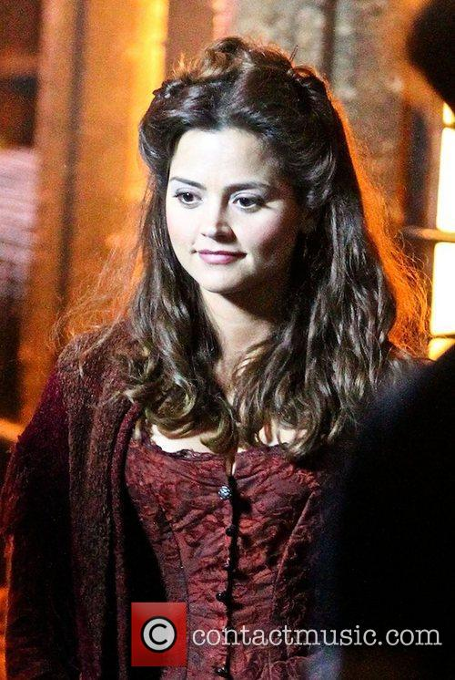jenna louise coleman filming the bbc christmas 4040823