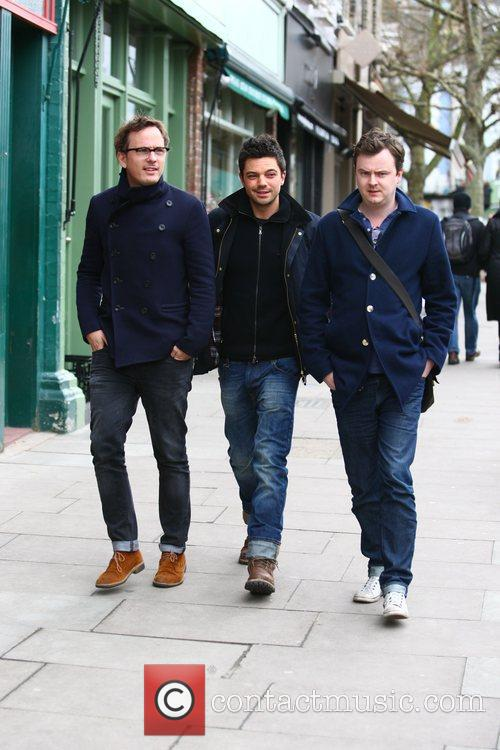 Dominic Cooper out and about with friends in...