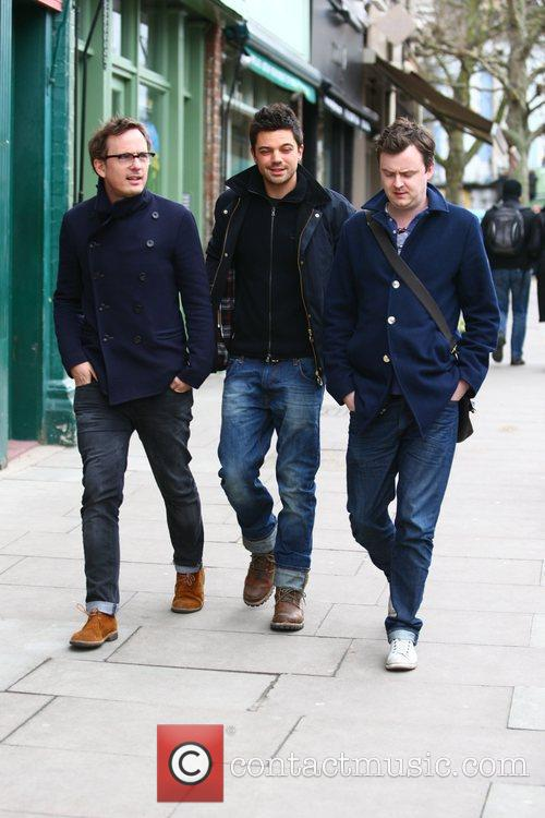 dominic cooper out and about with friends 3733481