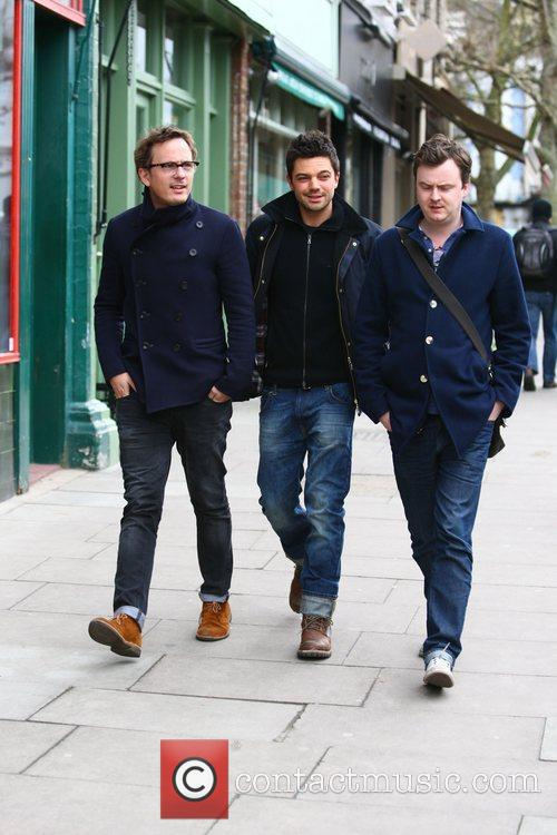 dominic cooper out and about with friends 3733482