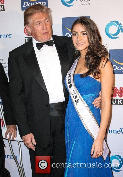 Donald Trump and Olivia Culpo at The Turkish...