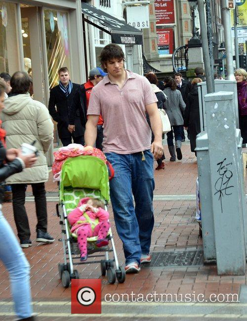 Ireland and Munster Rugby player Donncha O'Callaghan spotted...