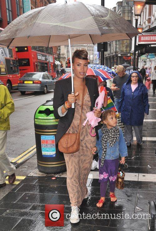 Javine Hylton and daughter Angel Celebrity & Press...
