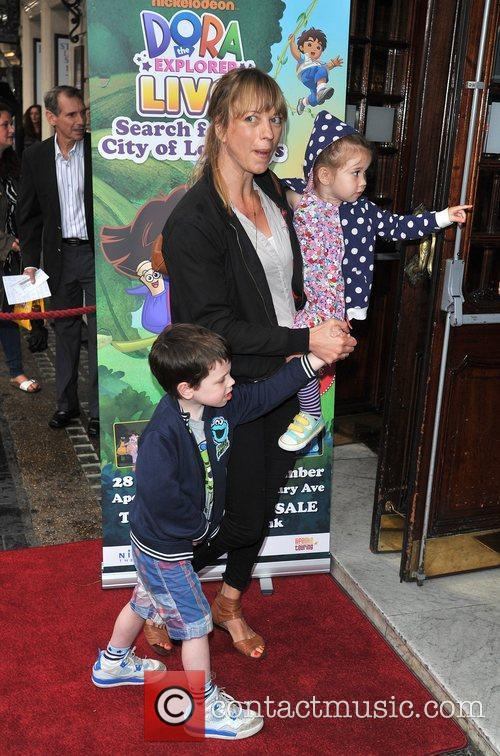 Sara Cox with her children Celebrity & Press...
