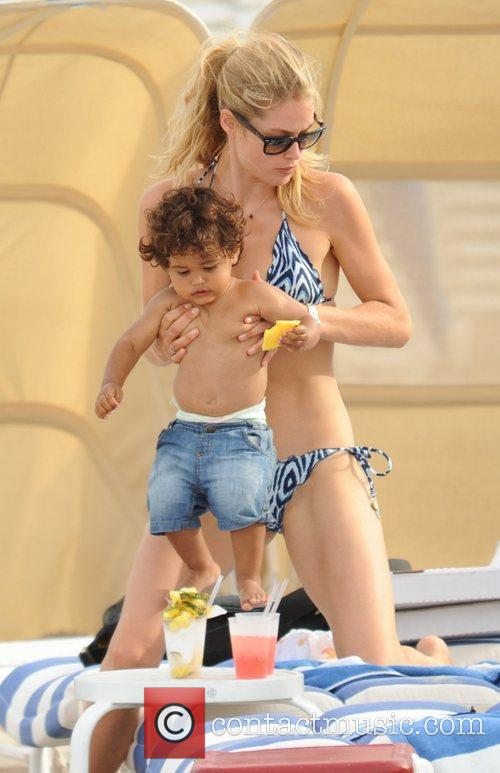 Doutzen Kroes and 17 month old son Phyllon...