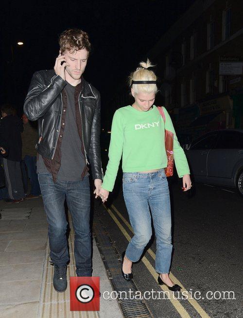 Pixie Geldof and George Barnett leaving The Dove...