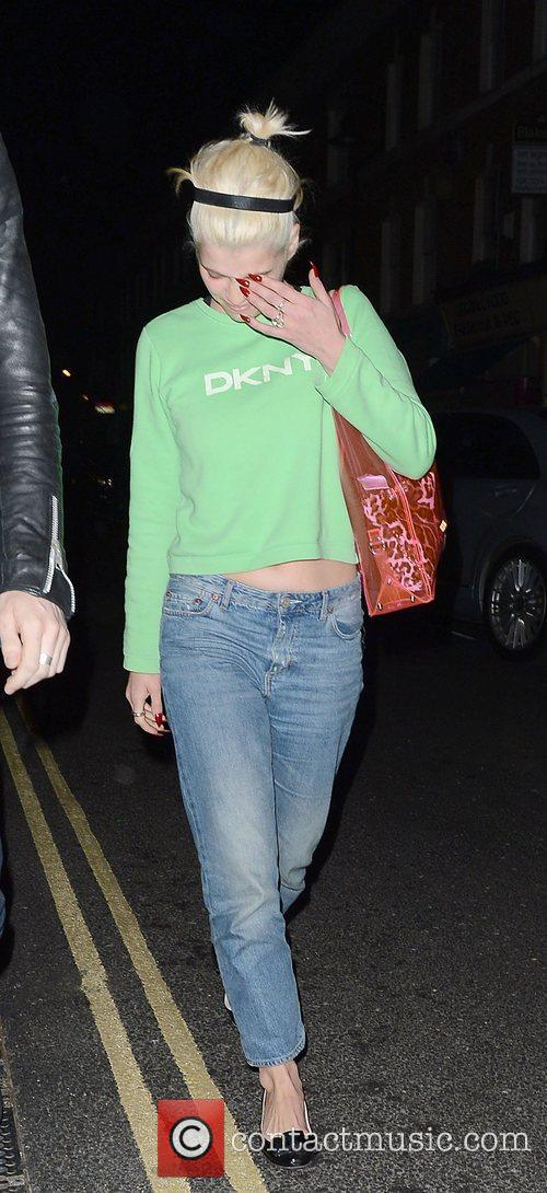 Pixie Geldof and leaving The Dove Bar London,...