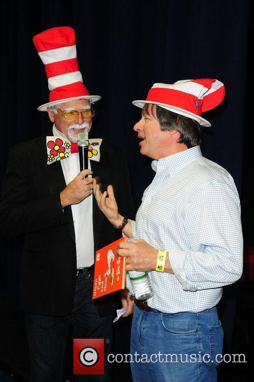 Author Dave Barry  reads a story to...