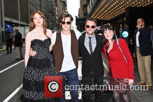 Karen Gillan, Matt Smith, Chris Hardwick and Caroline...