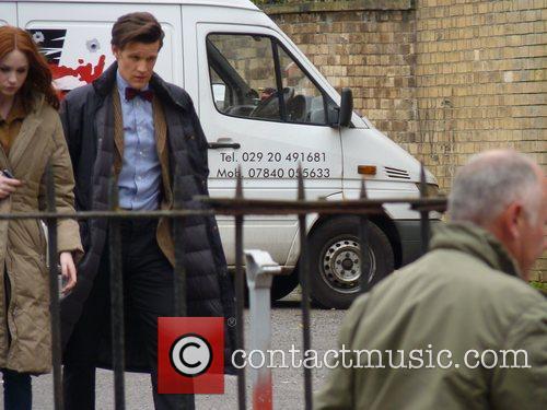 Karen Gillan and Matt Smith Dr Who producers...