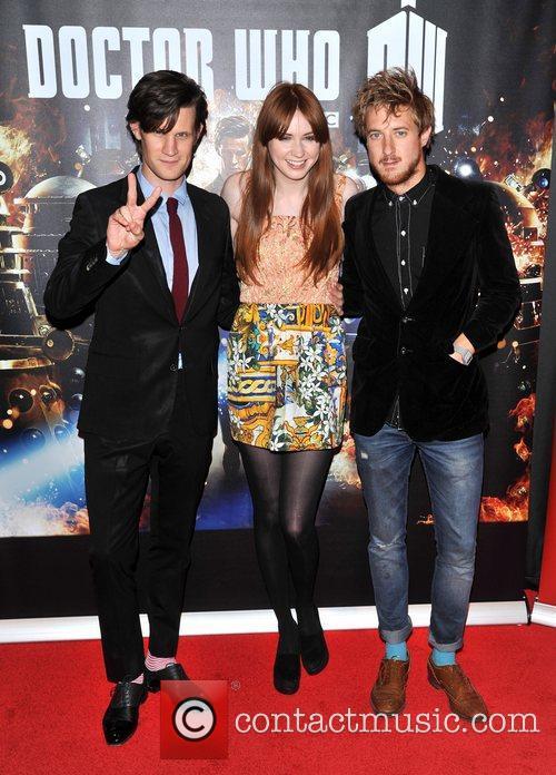 Matt Smith, Karen Gillan and Arthur Darvil, Doctor Who Screening