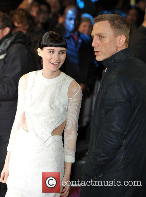 Rooney Mara, Daniel Craig and Odeon Leicester Square 2