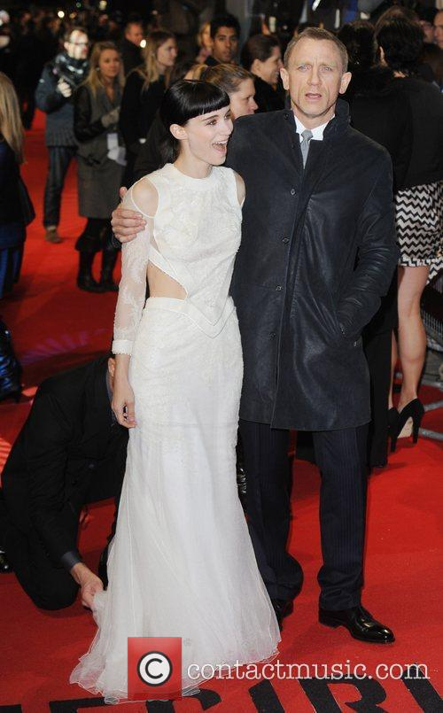 Rooney Mara, Daniel Craig and Odeon Leicester Square 1