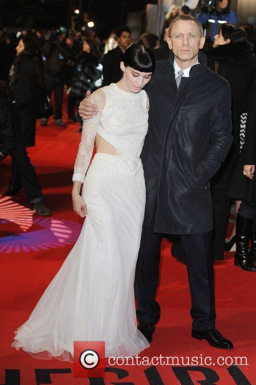 Rooney Mara, Daniel Craig and Odeon Leicester Square 11