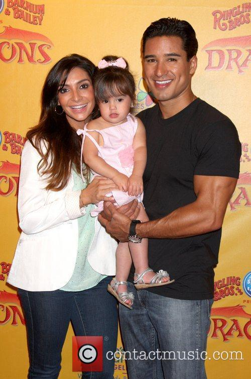 Courtney Mazza, Mario Lopez and their daughter Gia...