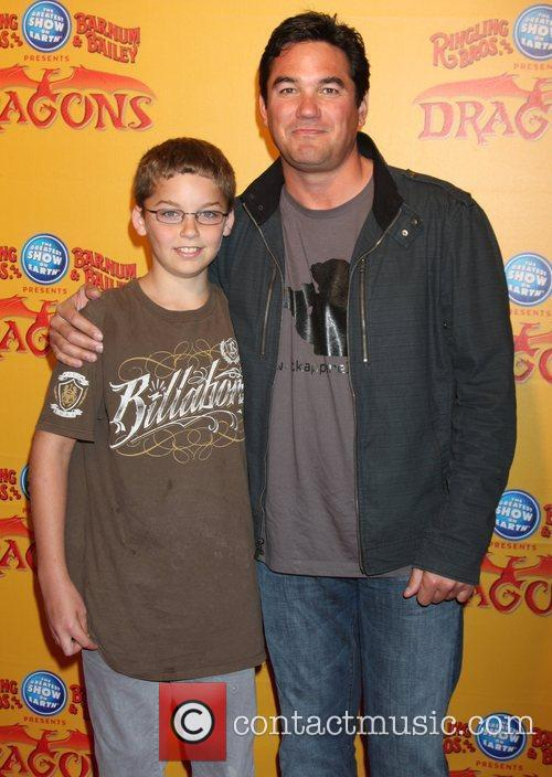 Dean Cain and son (in brown)  'Dragons'...
