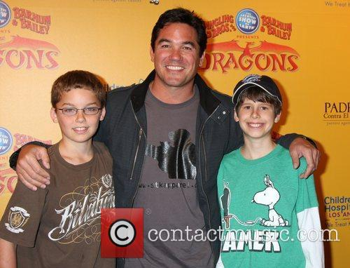 Dean Cain and son (in brown), friend (Green)...