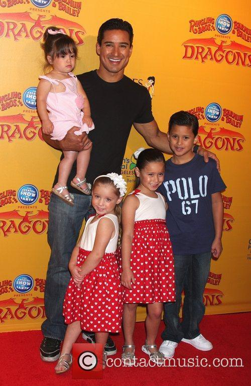 Mario Lopez, daughter Gia and his nieces and...