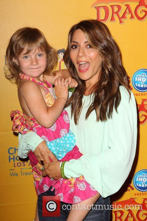 Marisol Nichols and her daughter Rain India Lexton...