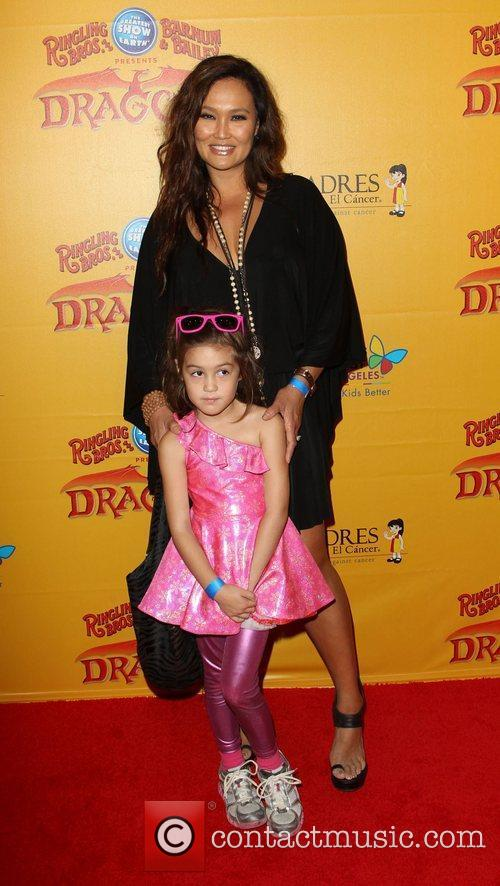 Tia Carrere and her daughter Bianca Wakelin-Carrere 'Dragons'...