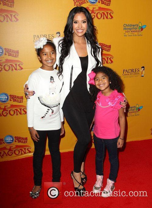 Vanessa Bryant and her daughters Natalia Diamante Bryant,...