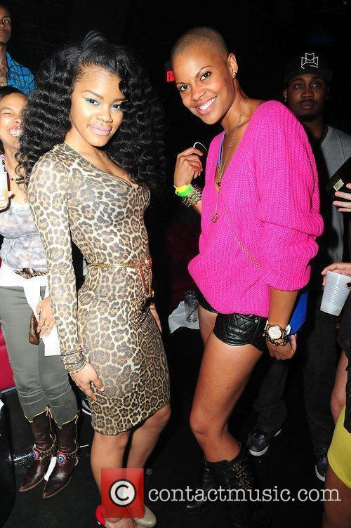 Teyanna Taylor and Victoria Bowers Drake attends Club...