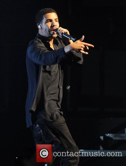Drake performing live at the O2 Arena London,...