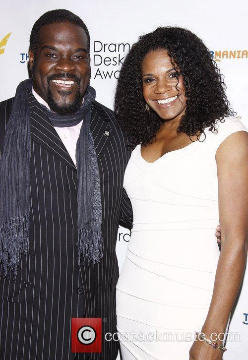 Philip Boykin and Audra McDonald at the official...