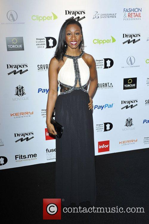 Beverley Knight,  at the Drapers Fashion Awards...