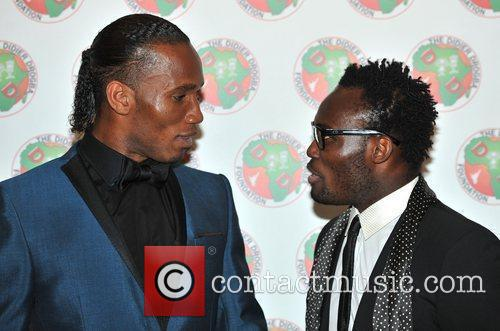 Didier Drogba and Michael Essien
