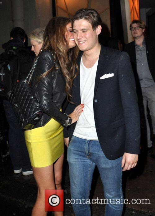Chloe Sims  leaving DSTRKT nightclub London, England