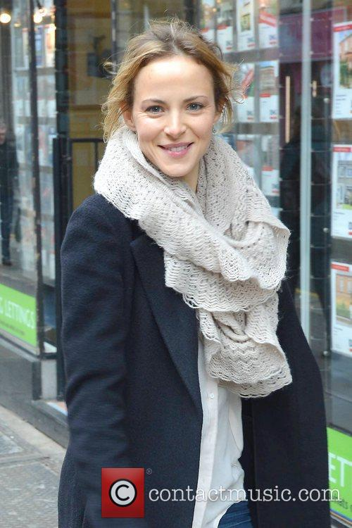 Singer Gemma Hayes is seen in good spirits...