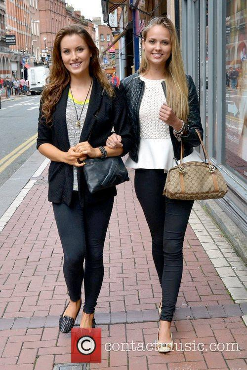 The two beauties walking along Exchequer Street as...