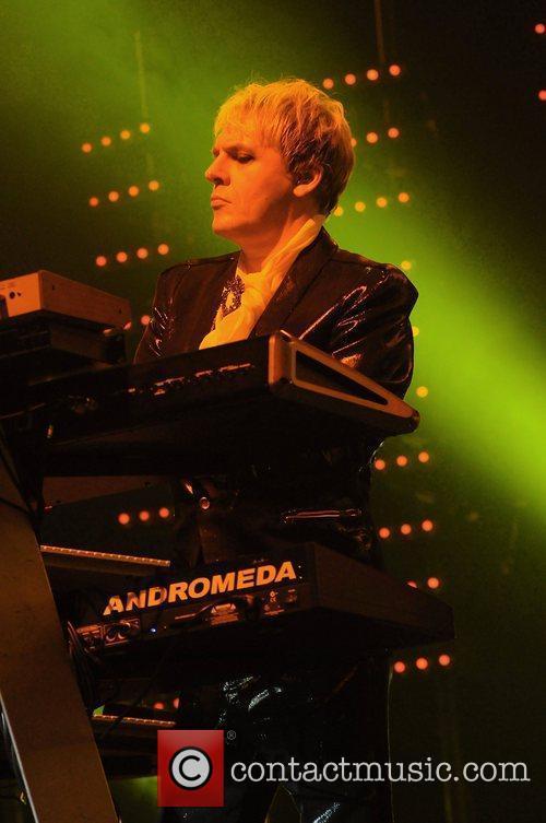 Nick Rhodes of Duran Duran perform at the...