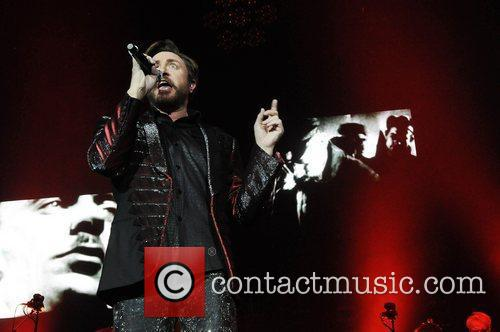 Simon Le Bon of Duran Duran perform at...